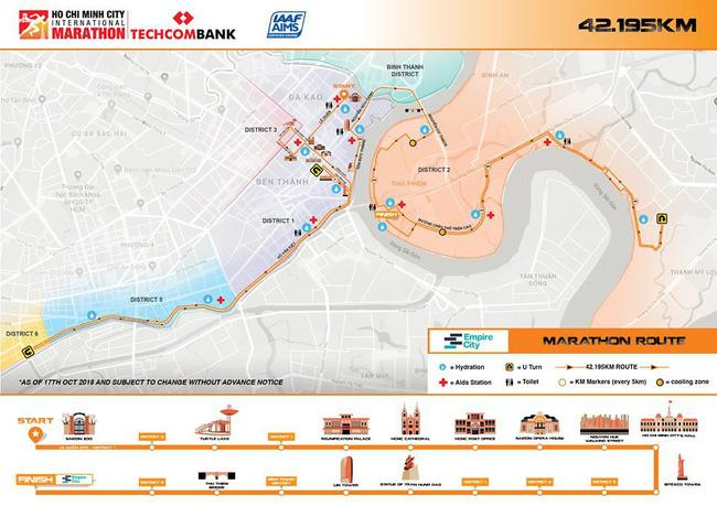 Đường chạy Techcombank HCMC International Marathon 2018 sẽ đi qua Dinh Độc Lập - Ảnh 9.