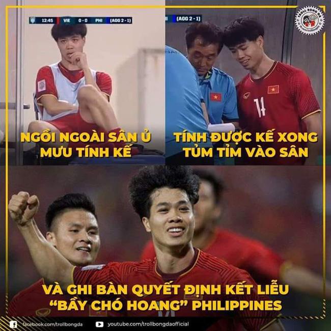 Ảnh chế chiến thắng của ĐT Việt Nam trước Phlippines tại bán kết lượt về AFF Cup 2018: Hoạ mi Phượng đã hót! - Ảnh 3.