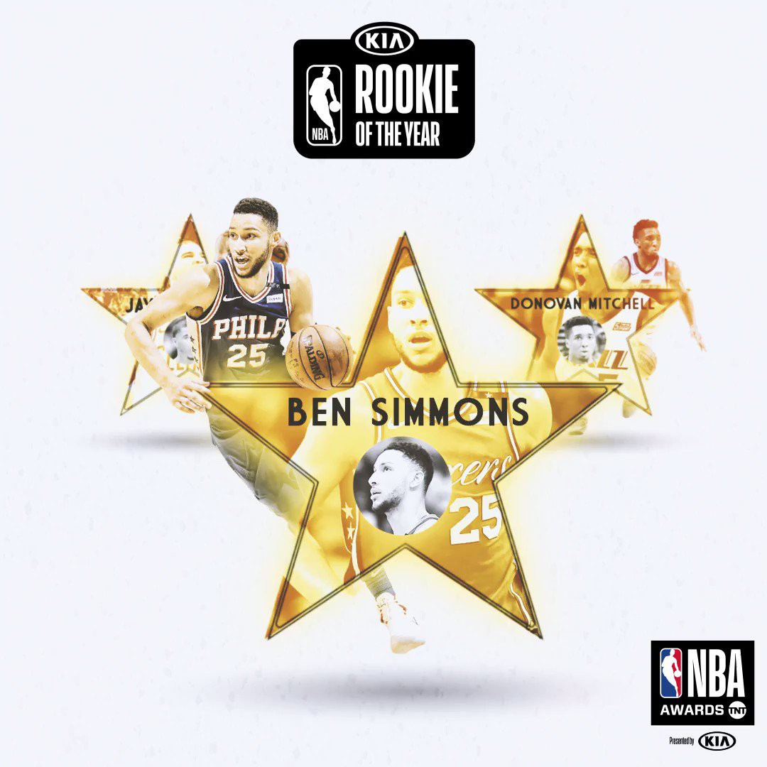 James Harden và LeBron tranh MVP NBA, Ben Simmons so kè Rookie of The Year cùng Donovan Mitchell - Ảnh 3.
