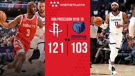 Thắng trận preseason cuối cùng, Houston Rockets lộ diện đội hình thi đấu chính cho mùa giải năm nay