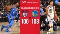 Stephen Curry rực sáng, ném cháy rổ OKC trong ngày Golden State Warriors nhận nhẫn vô địch