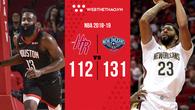 """Anthony Davis """"củ hành"""" cả Houston Rockets trong ngày ra quân như muốn dằn mặt các đội chơi small-ball"""