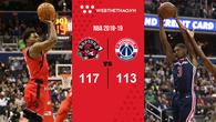Không Leonard, Raptors vẫn lên đỉnh sau cuộc đấu thú vị với Wizards