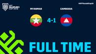 HLV Keisuke Honda không thể giúp Campuchia giữ được 3 điểm trước Myanmar