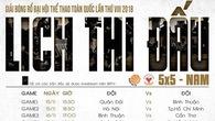 Lịch thi đấu bóng rổ Đại hội thể dục thể thao: Hà Nội, Tp.Hồ Chí Minh và cuộc đối đầu đầy duyên nợ