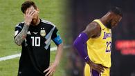 LeBron James ném phạt tệ như Messi sút pen