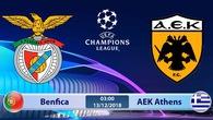 Nhận định tỷ lệ cược kèo bóng đá tài xỉu trận Benfica vs AEK Athens
