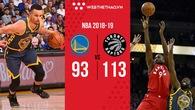 """""""Chấp"""" Kawhi Leonard và trung phong trụ cột, Toronto Raptors vẫn hành ra bã Golden State Warriors"""