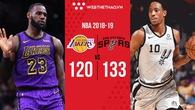 DeMar DeRozan dẫn San Antonio Spurs đến màn trả thù ngọt ngào trước Los Angeles Lakers