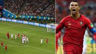 Mổ xẻ siêu phẩm sút phạt thần sầu của Ronaldo vào lưới Tây Ban Nha