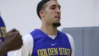 Em trai Lonzo Ball tập luyện với Warriors