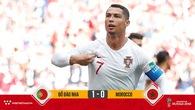 Ronaldo lập kỳ tích giúp ĐT Bồ Đào Nha thắng sít sao Morocco