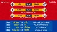 Lịch thi đấu World Cup 2018 mới nhất hôm nay 24/06
