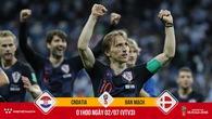 """Luka Modric kỷ niệm ngày lịch sử bằng cách giúp Croatia hạ """"lính chì"""" Đan Mạch?"""