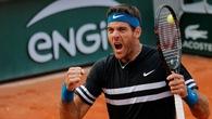 """Roland Garros ngày thứ 9: Del Potro thắng nhàn, Cilic vất vả hạ """"ngựa ô"""" tiến vào tứ kết"""