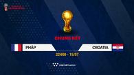 Lịch thi đấu World Cup 2018 mới nhất hôm nay 15/07