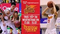 Trực tiếp bóng rổ VBA: Danang Dragons vs Saigon Heat