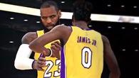 2 cha con LeBron James tung hoành trong màu áo Lakers