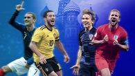 Đánh giá sức mạnh 4 đội tuyển góp mặt ở bán kết World Cup 2018