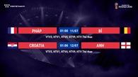 Lịch thi đấu World Cup 2018 mới nhất hôm nay 10/07
