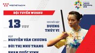 Thông tin đội tuyển Wushu tham dự ASIAD 2018