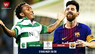 Link xem trực tiếp Champions League: Sporting - Barcelona
