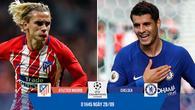 Link xem trực tiếp Champions League: Atletico Madrid - Chelsea