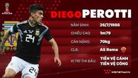 Thông tin cầu thủ Perotti của ĐT Argentina dự World Cup 2018