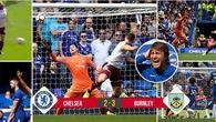 Video kết quả: Chơi với 9 người, Chelsea thua sốc trước Burnley