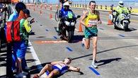 VĐV Marathon sốc nhiệt gục ngã ở ĐH thể thao Thịnh vượng chung