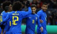 Video: Coutinho và Paulinho giúp Brazil hạ Nga trong 13 phút