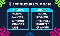 """Việt Nam """"né"""" được bảng tử thần có Indonesia và Thái Lan ở AFF Cup 2018"""
