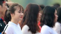 Ngắm vẻ đẹp rạng ngời các nữ sinh tại Giải bóng đá học sinh THPT Hà Nội - Báo An Ninh Thủ Đô 2018