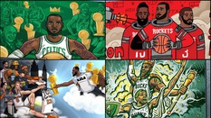 Họa sĩ của 30 thành phố được yêu cầu vẽ bức tranh để chiêu mộ LeBron James và đây là kết quả