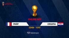 Nhận định tỷ lệ cược kèo nhà cái tài xỉu World Cup 2018 mới nhất hôm nay ngày 15/07