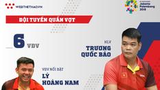Thông tin đội tuyển quần vợt Việt Nam tham dự ASIAD 2018