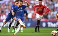 """Hazard đánh lừa De Gea trên chấm phạt đền bằng chiến thuật """"mắt lác"""""""