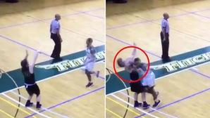 """Cả giới bóng rổ phẫn nộ với cú chỏ knock-out đối thủ không khác gì """"bụi đời Chợ Lớn"""" tại NCAA III"""