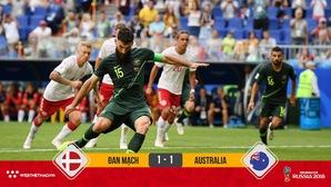 VAR lại lên tiếng giúp Australia giành 1 điểm trước Đan Mạch