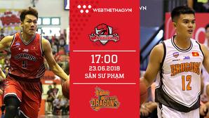 Trực tiếp bóng rổ VBA: Thang Long Warriors vs Danang Dragons