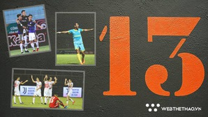 Số 13 ám ảnh sau vòng 15 V.League 2018