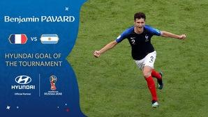 """Siêu phẩm của Pavard trước Argentina là """"bàn thắng đẹp nhất World Cup 2018"""""""