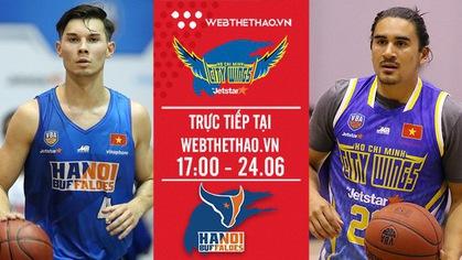 Trực tiếp bóng rổ VBA: Hochiminh City Wings vs Hanoi Buffaloes