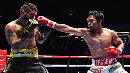 Manny Pacquiao v. Lucas Matthysse: Cú knockout đầu tiên trong 9 năm của Pac-Man!