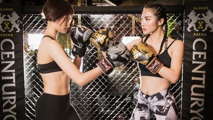 Yaya Trương Nhi và Kim Nhung lần đầu đấu muay