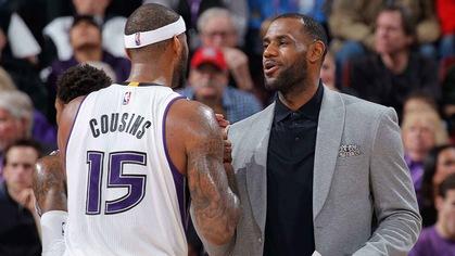 DeMarcus Cousins mang LeBron James lên đỉnh thế giới