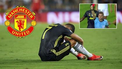 Trọng tài nói gì khi đuổi Ronaldo và CR7 có lỡ cuộc chạm trán với Man Utd?