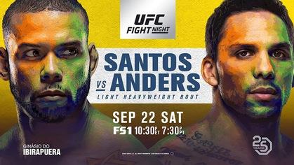 TRỰC TIẾP UFC Fight Night 137: Thiago Santos vs. Eryk Anders