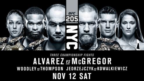 Lịch thi đấu UFC 205: Eddie Alvarez vs. Conor McGregor