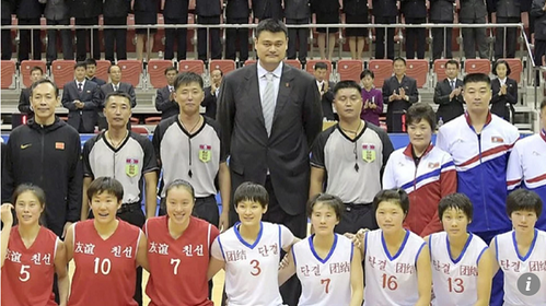 Huyền thoại Yao Ming trở thành cầu nối xoa dịu căng thẳng giữa Trung Quốc và Triều Tiên